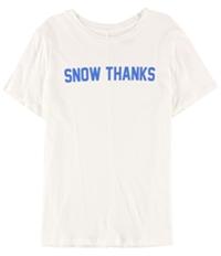 Carbon Copy Womens Snow Thanks Graphic T-Shirt