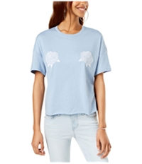 Carbon Copy Womens Embroidered Basic T-Shirt