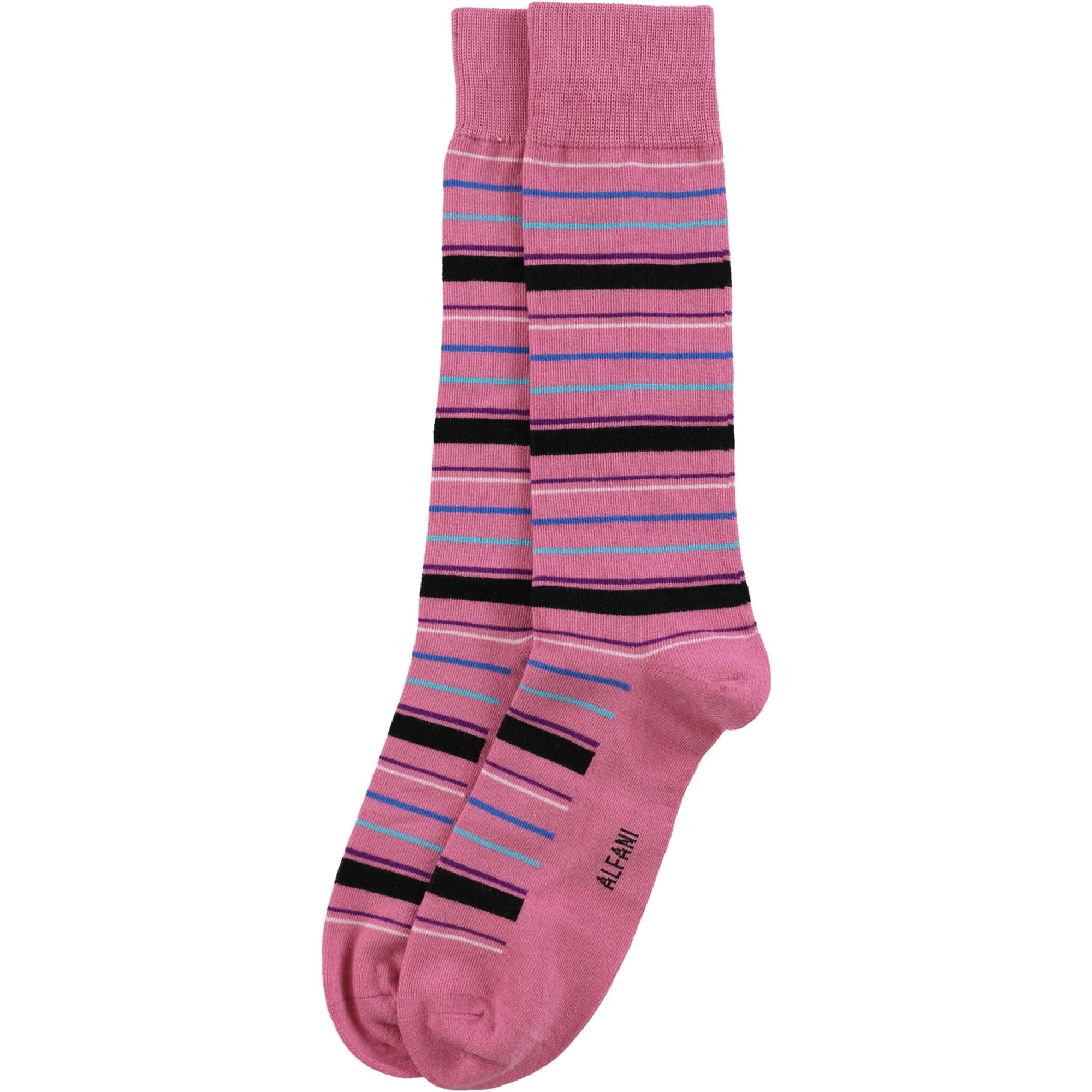 Alfani Mens Variegated Stripe Dress Socks