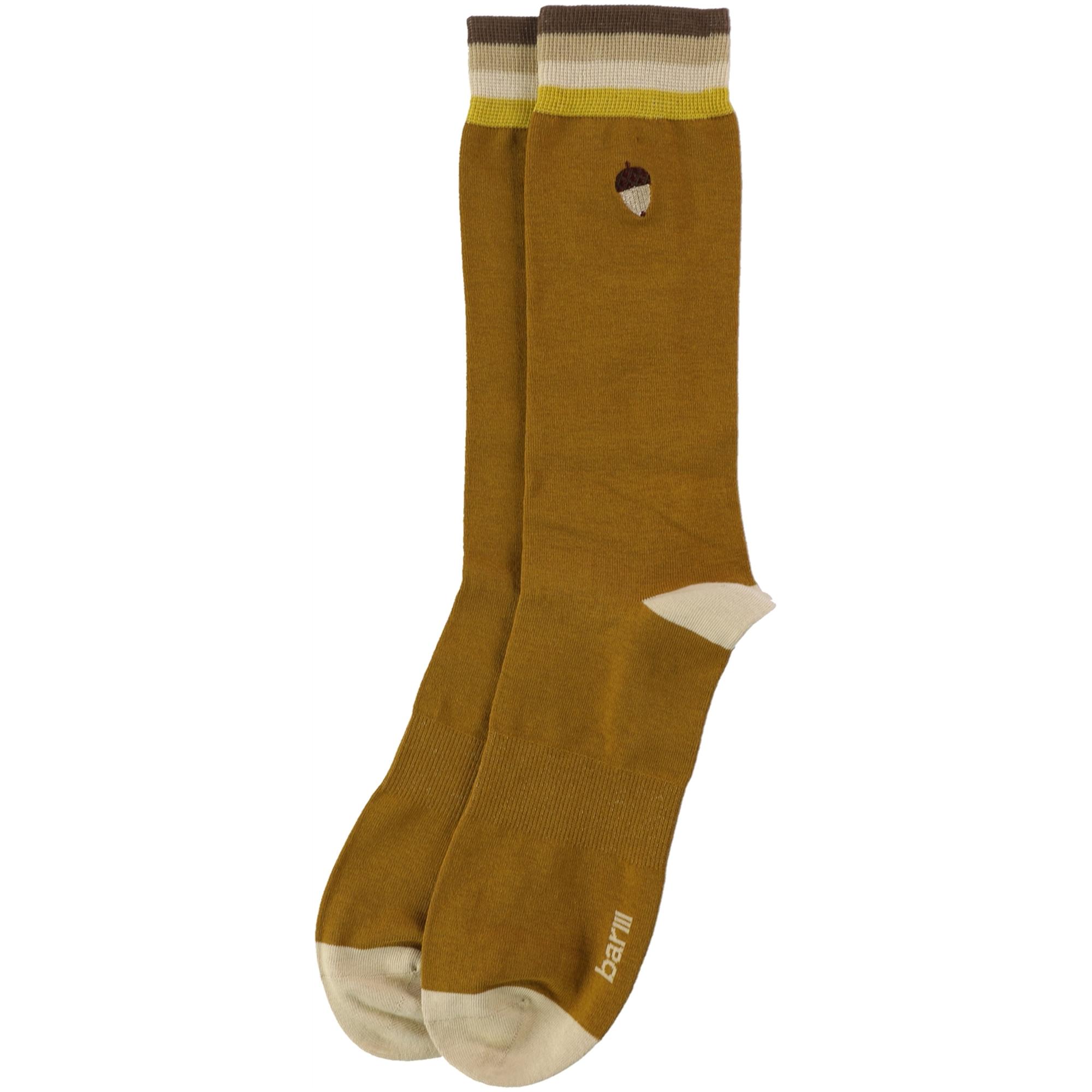 bar III Mens Embroidered Acorn Dress Socks