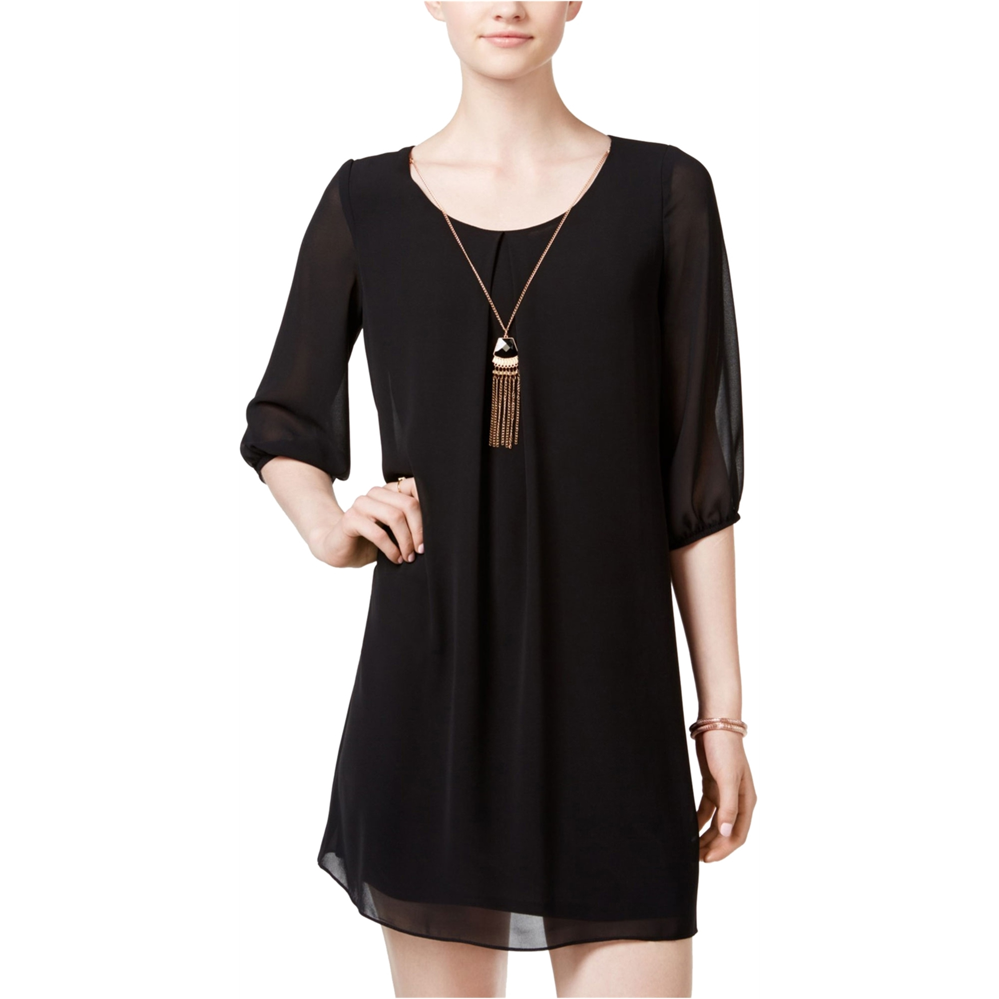 Bcx Womens Cutout Back A-Line Dress
