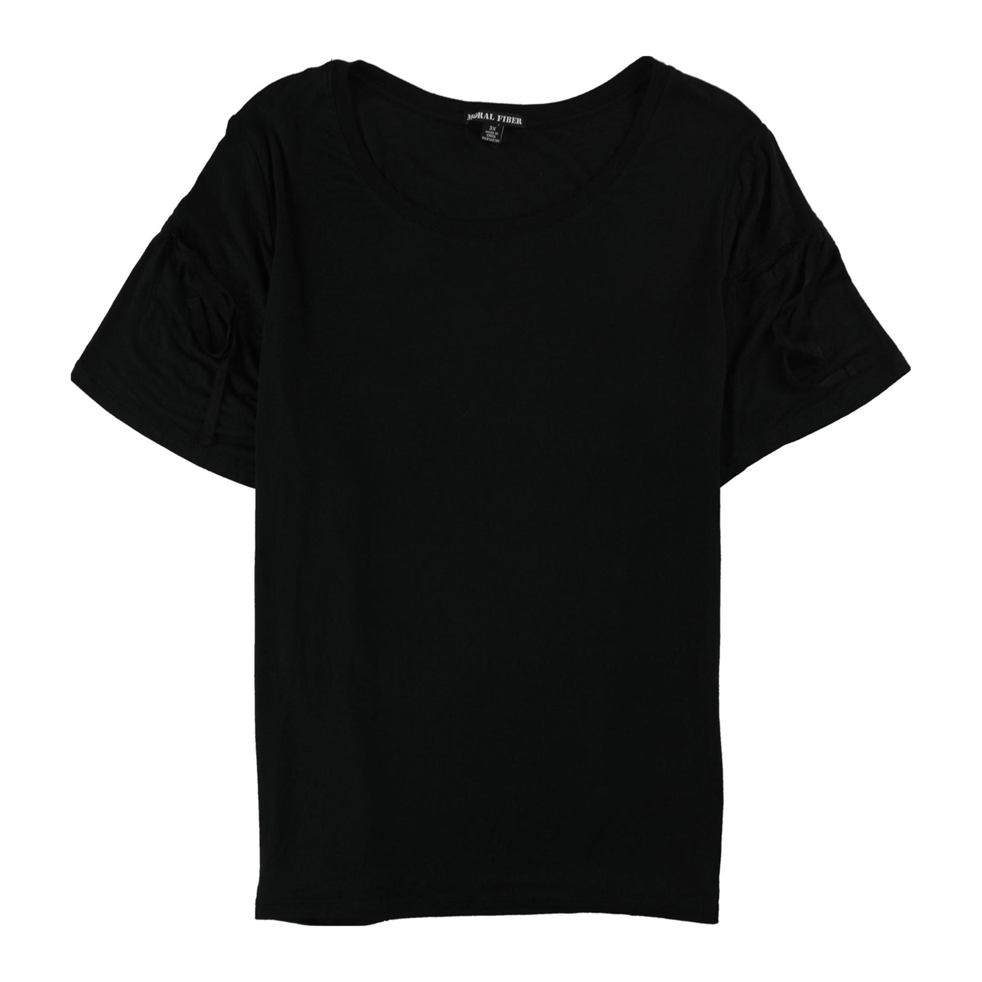 Moral Fiber Womens Solid Basic T-Shirt