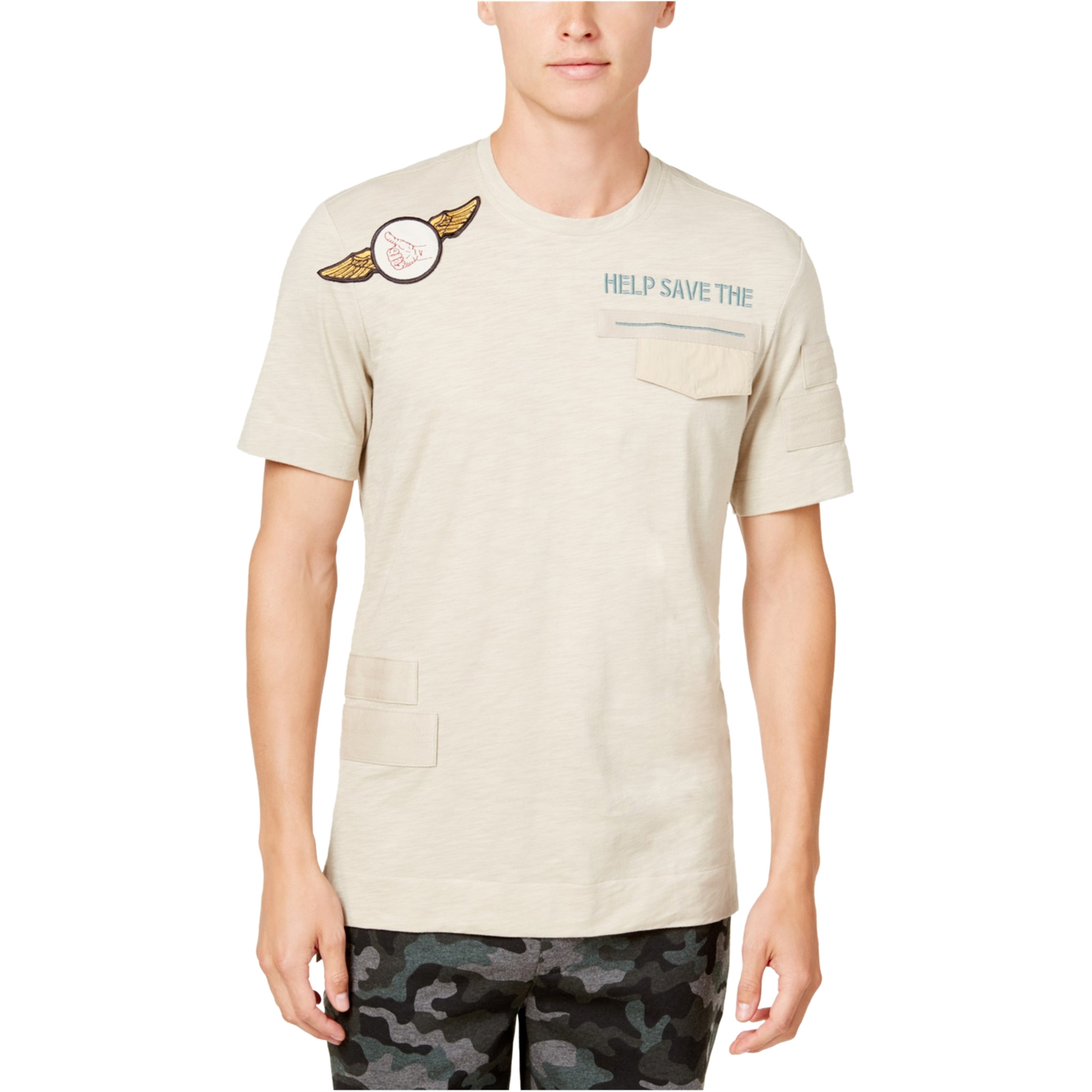 American Rag Mens Patch Pocket Embellished T-Shirt
