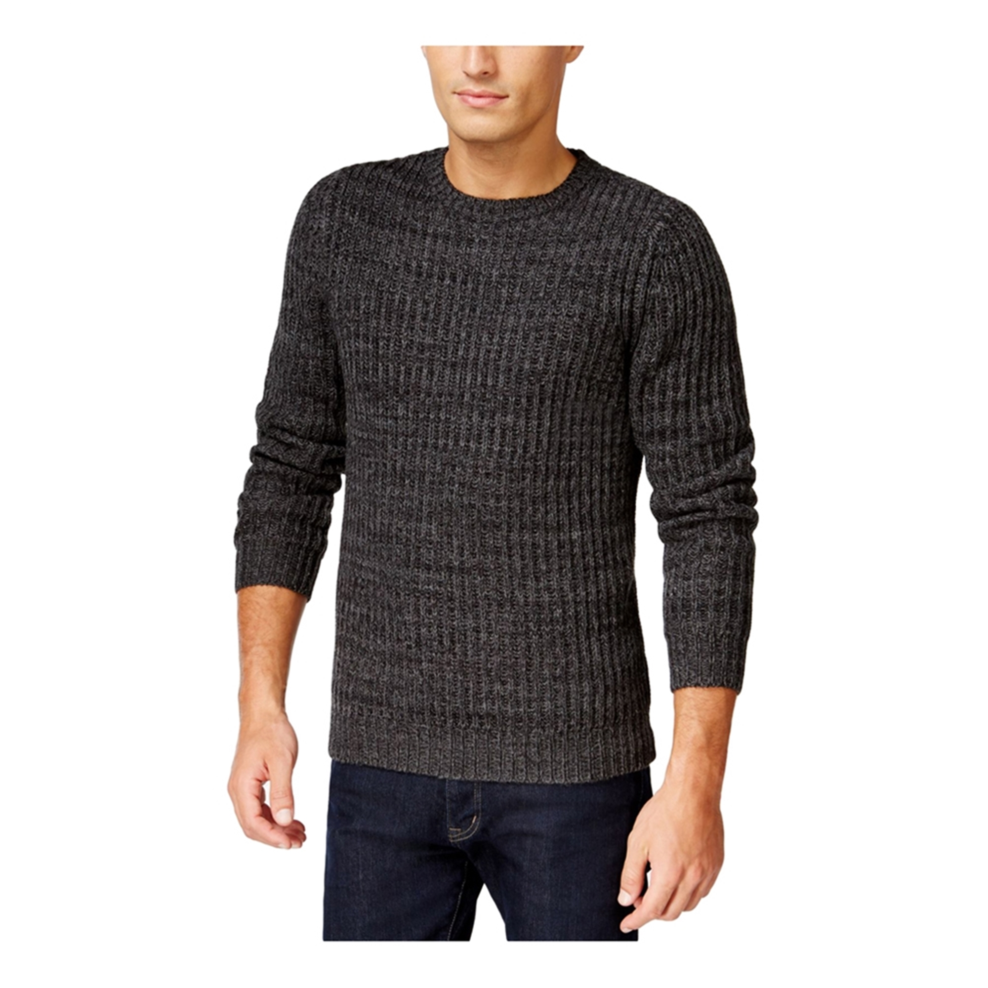 Club Room Mens Marled Textured Pullover Sweater