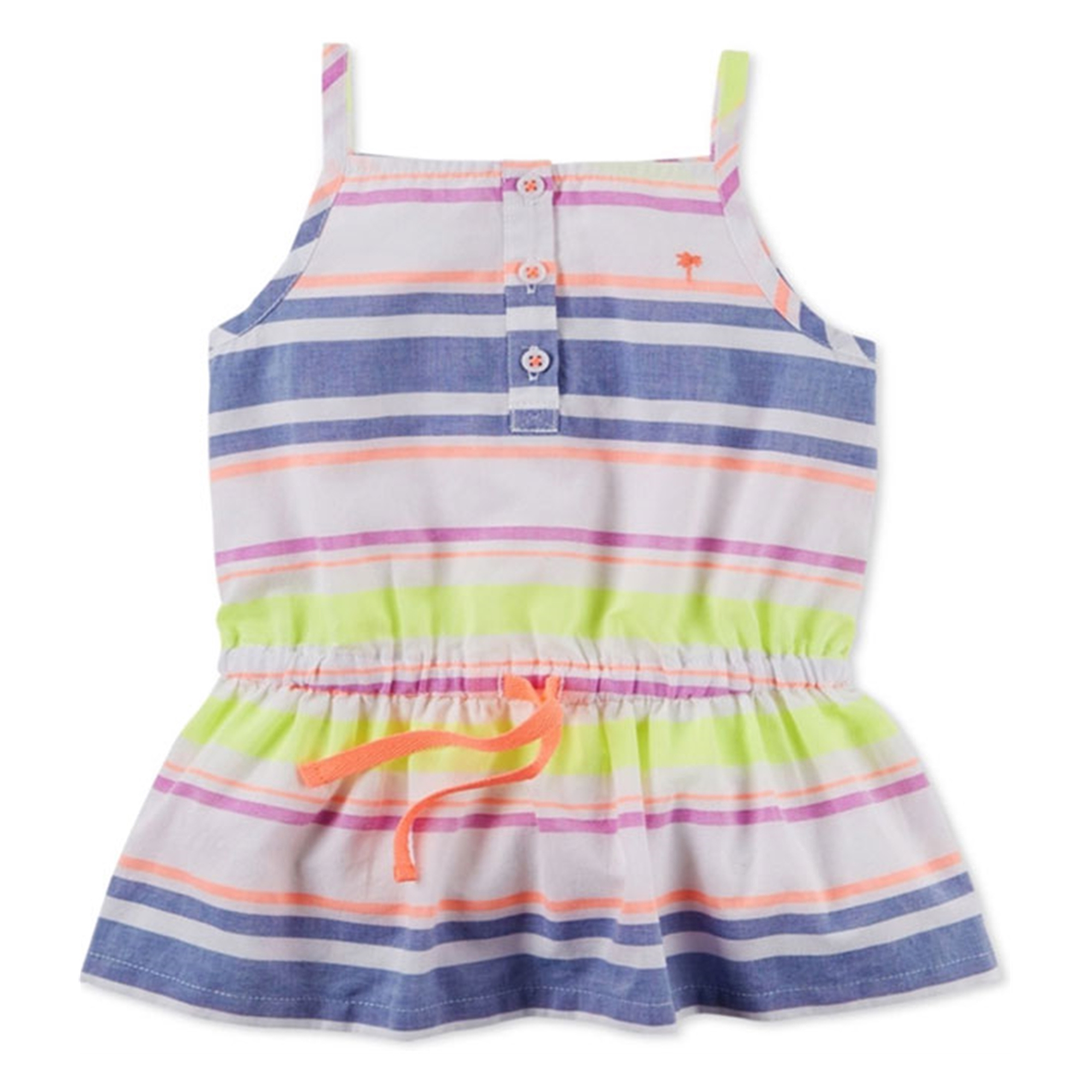 Carter's Girls Striped Sleeveless Tunic Blouse