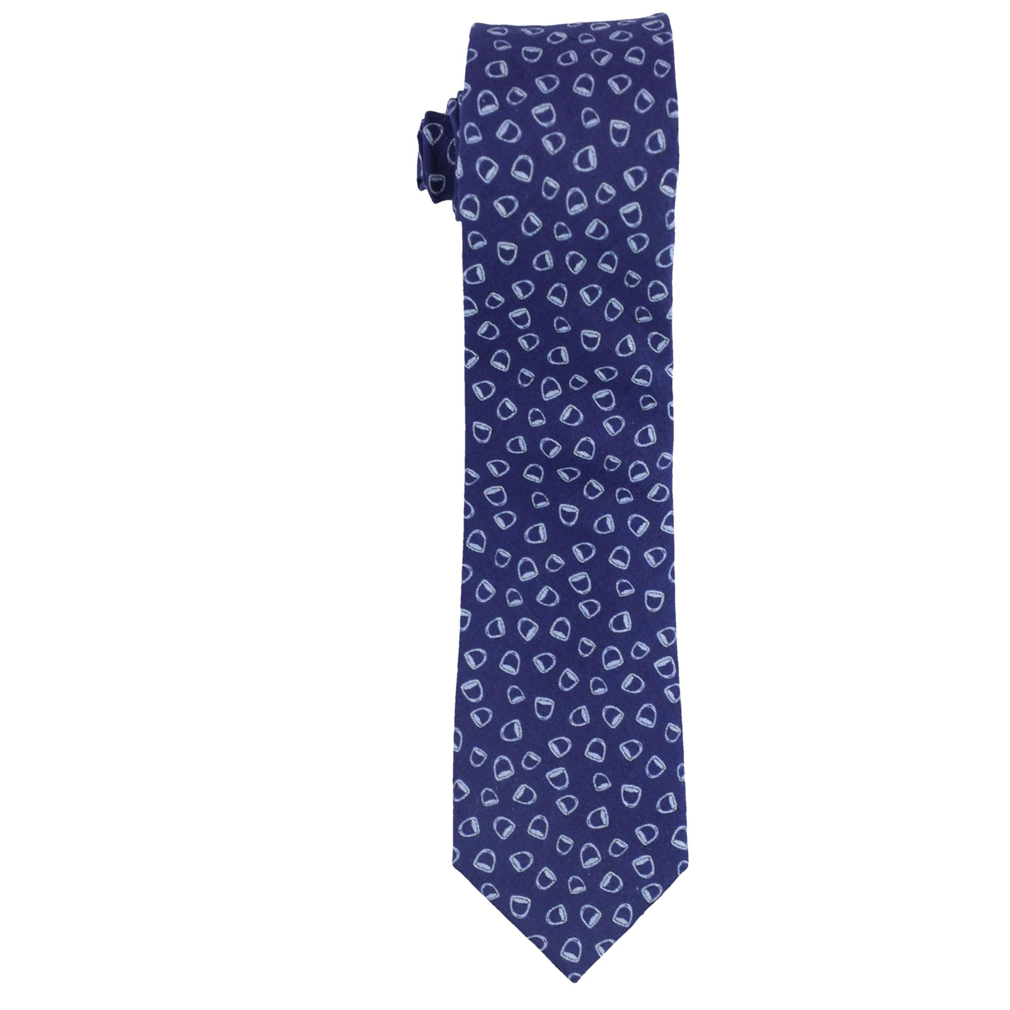 bar III Mens Stirrup-Print Necktie
