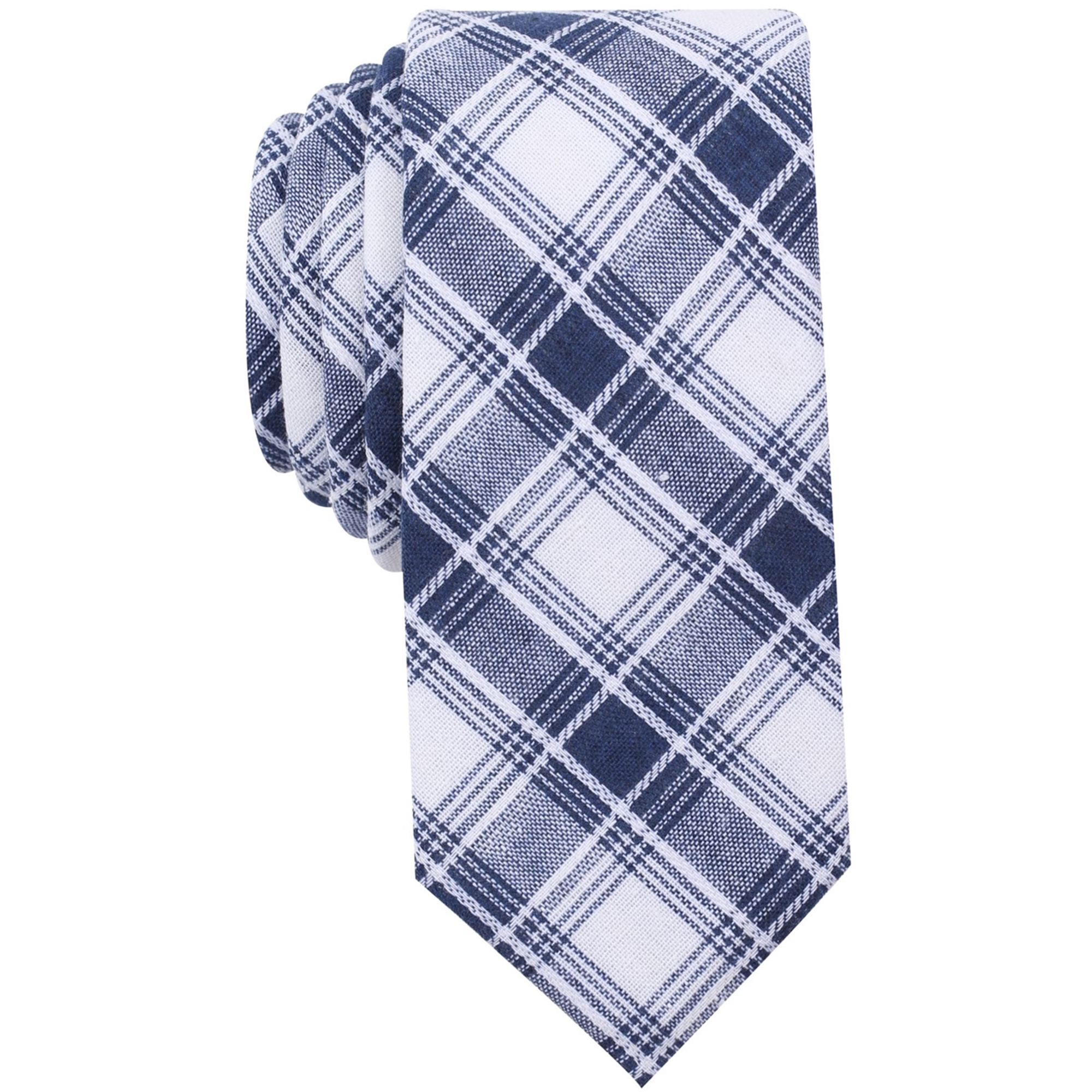 Bar Iii Mens Palmyra Plaid Necktie