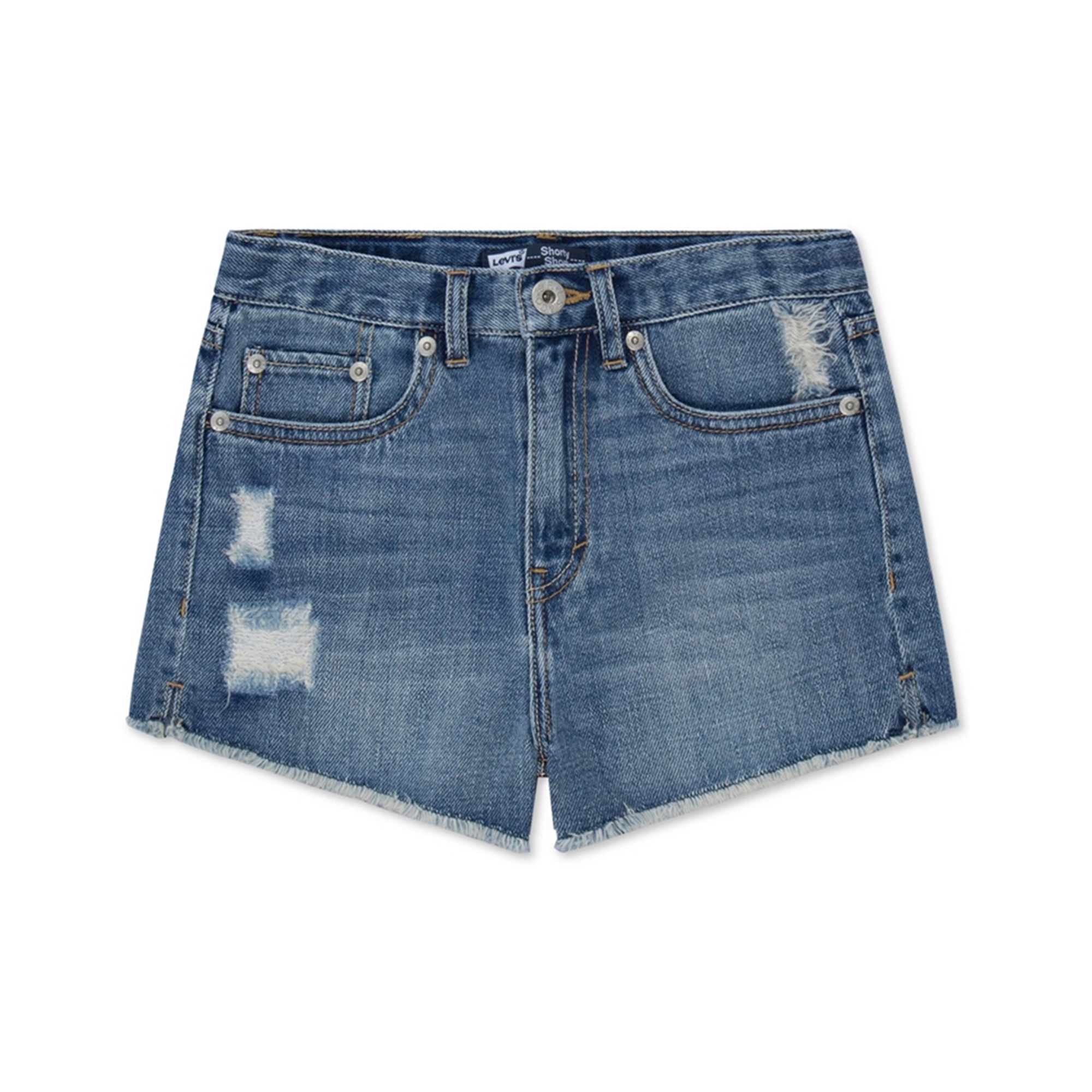 Levi's Girls High Rise Shorty Casual Denim Shorts