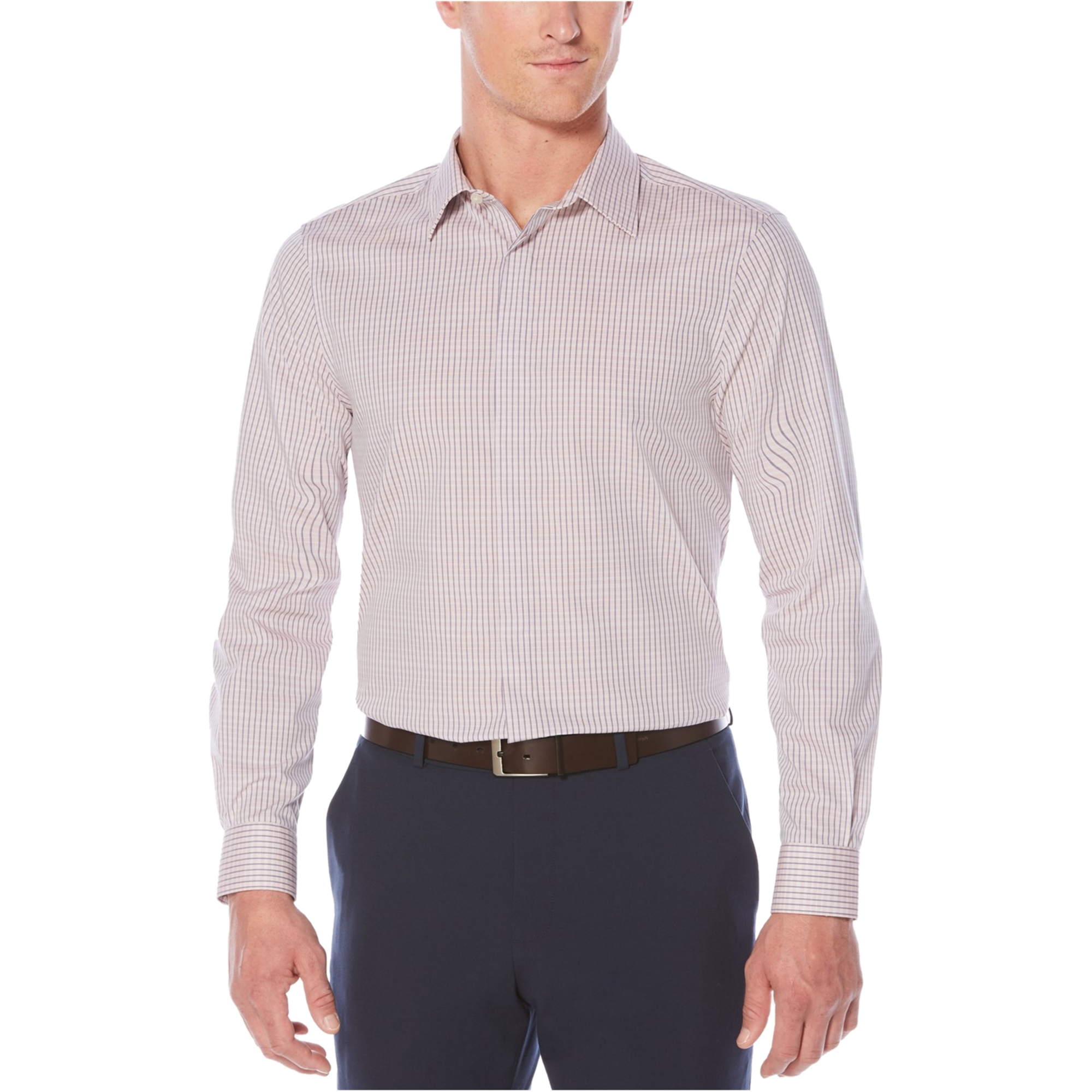 Perry Ellis Mens Printed Ls Button Up Shirt