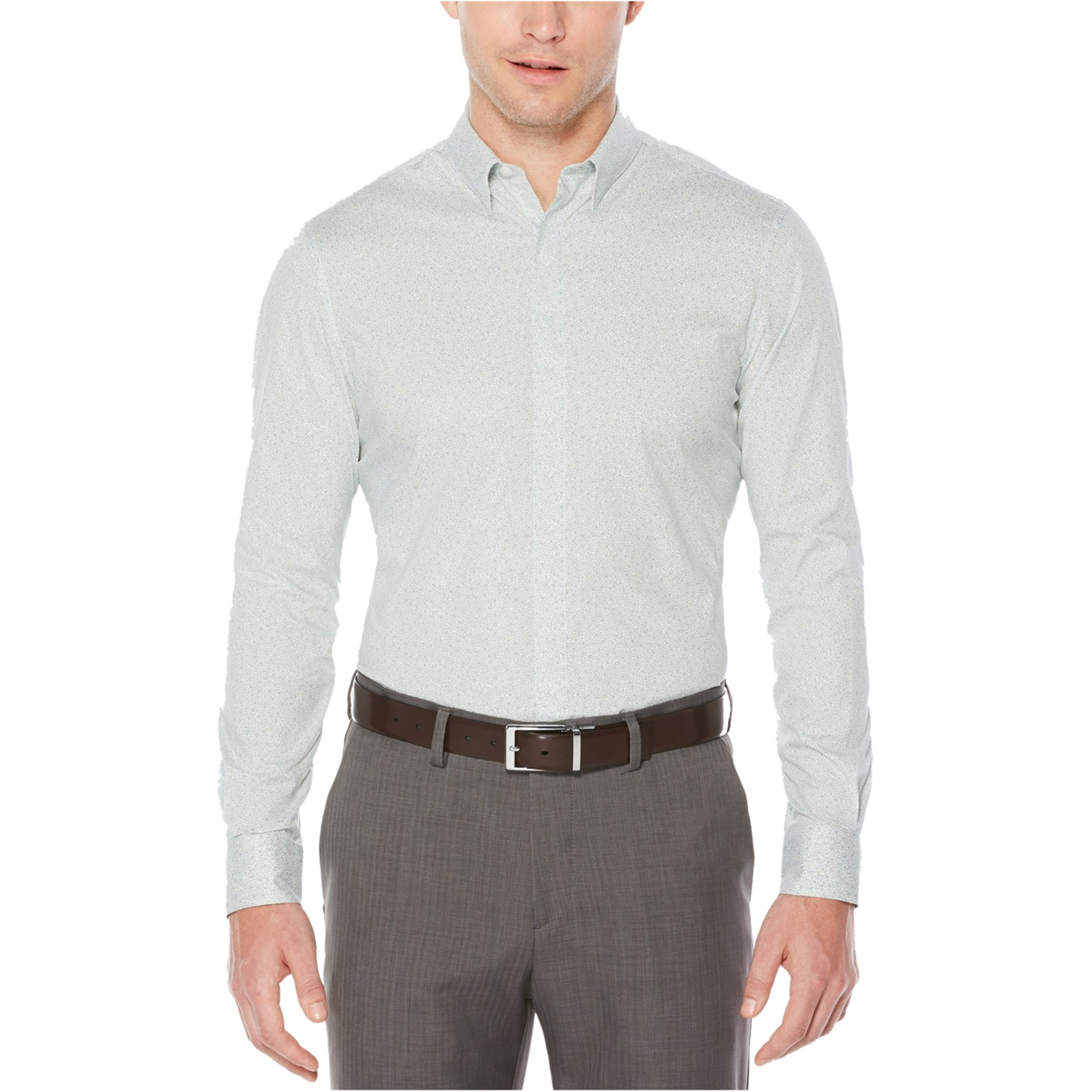 Perry Ellis Mens Travel Luxe Button Up Shirt
