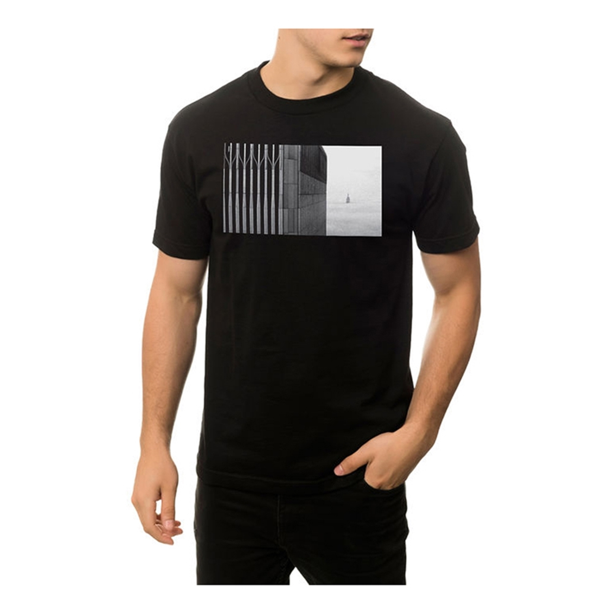Black Scale Mens The Paradise Nyc Graphic T-Shirt
