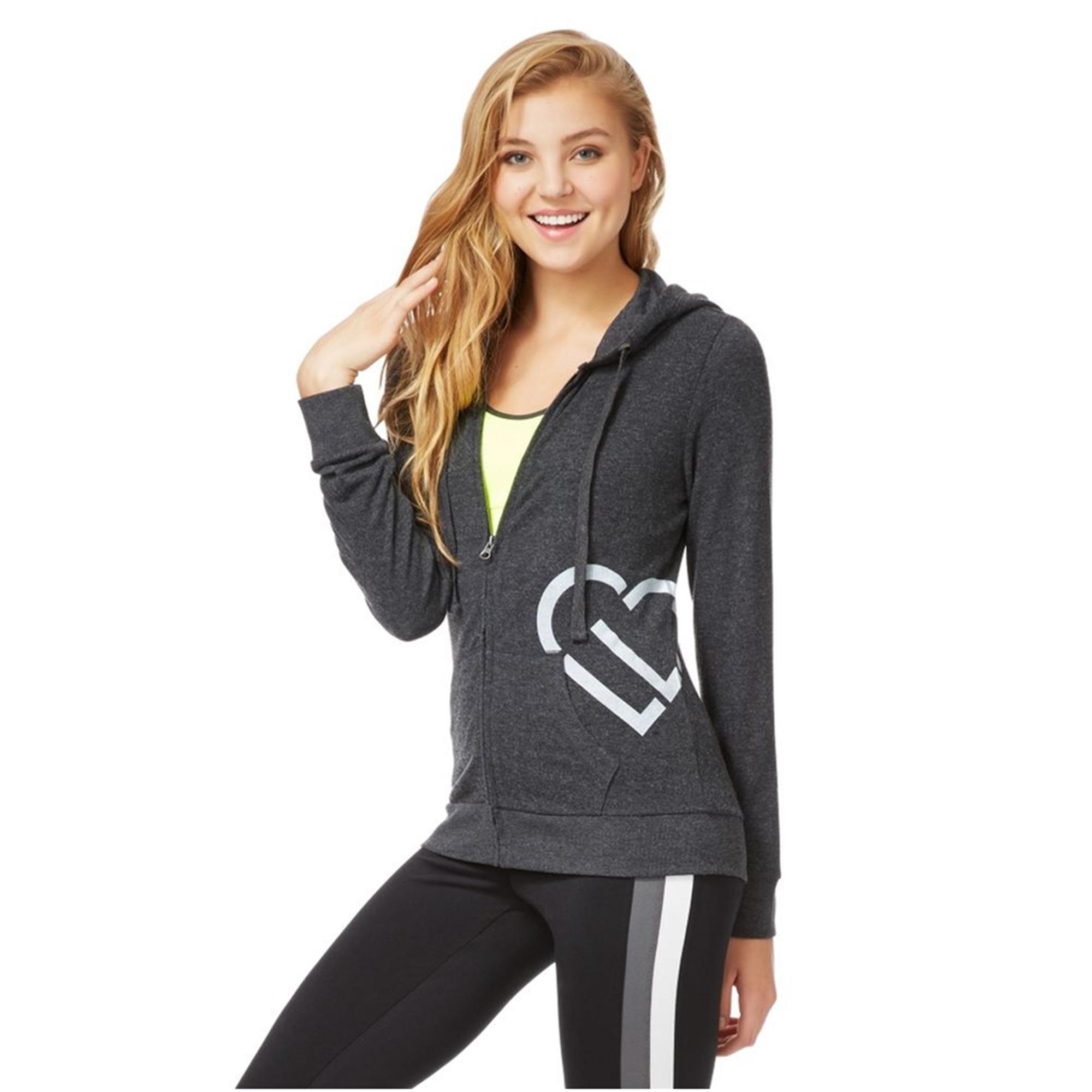 Aeropostale Womens Heart Sleep Hoodie Sweatshirt