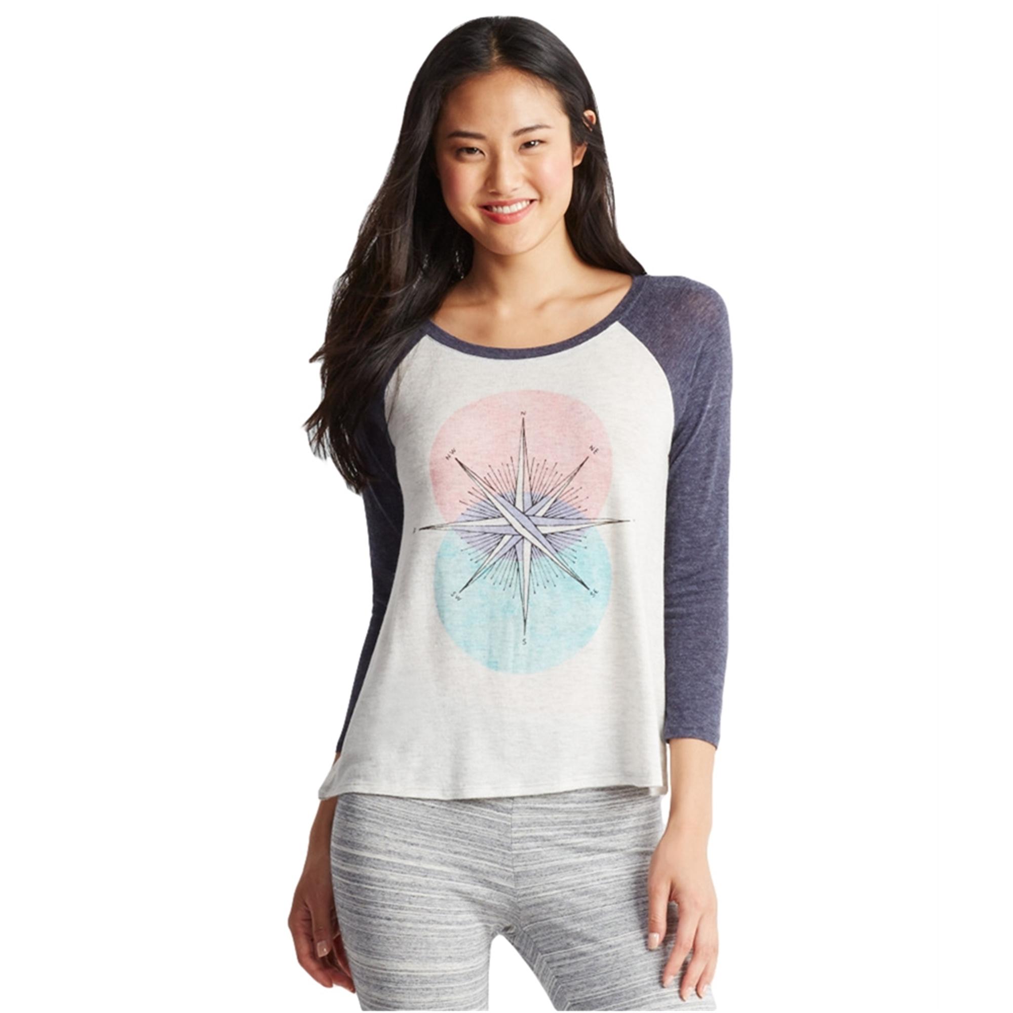 Aeropostale Womens Compass Raglan Pajama Sleep T-Shirt