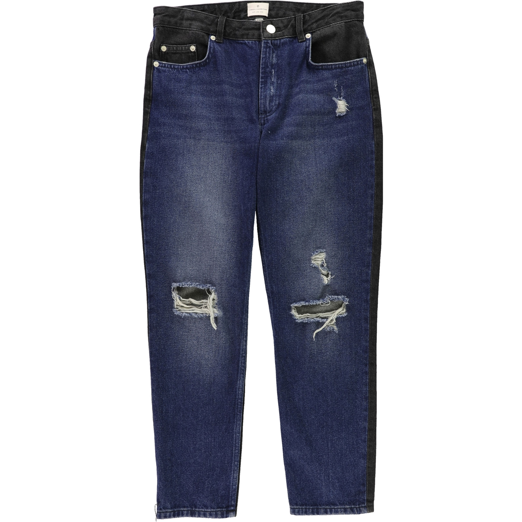 French Connection Womens Indi Mash Up Boyfriend Fit Jeans