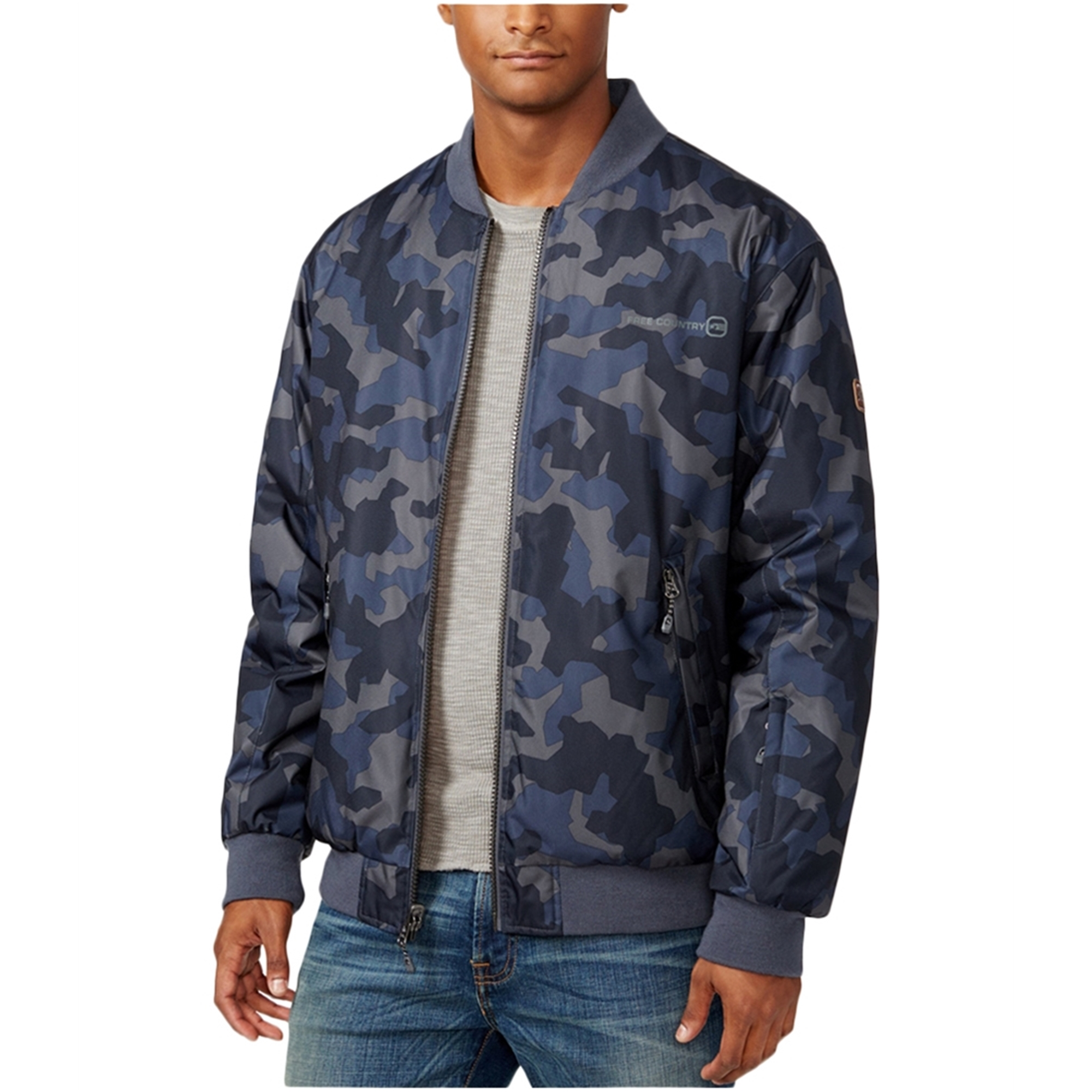 Free Country Mens Reversible Camo Bomber Jacket