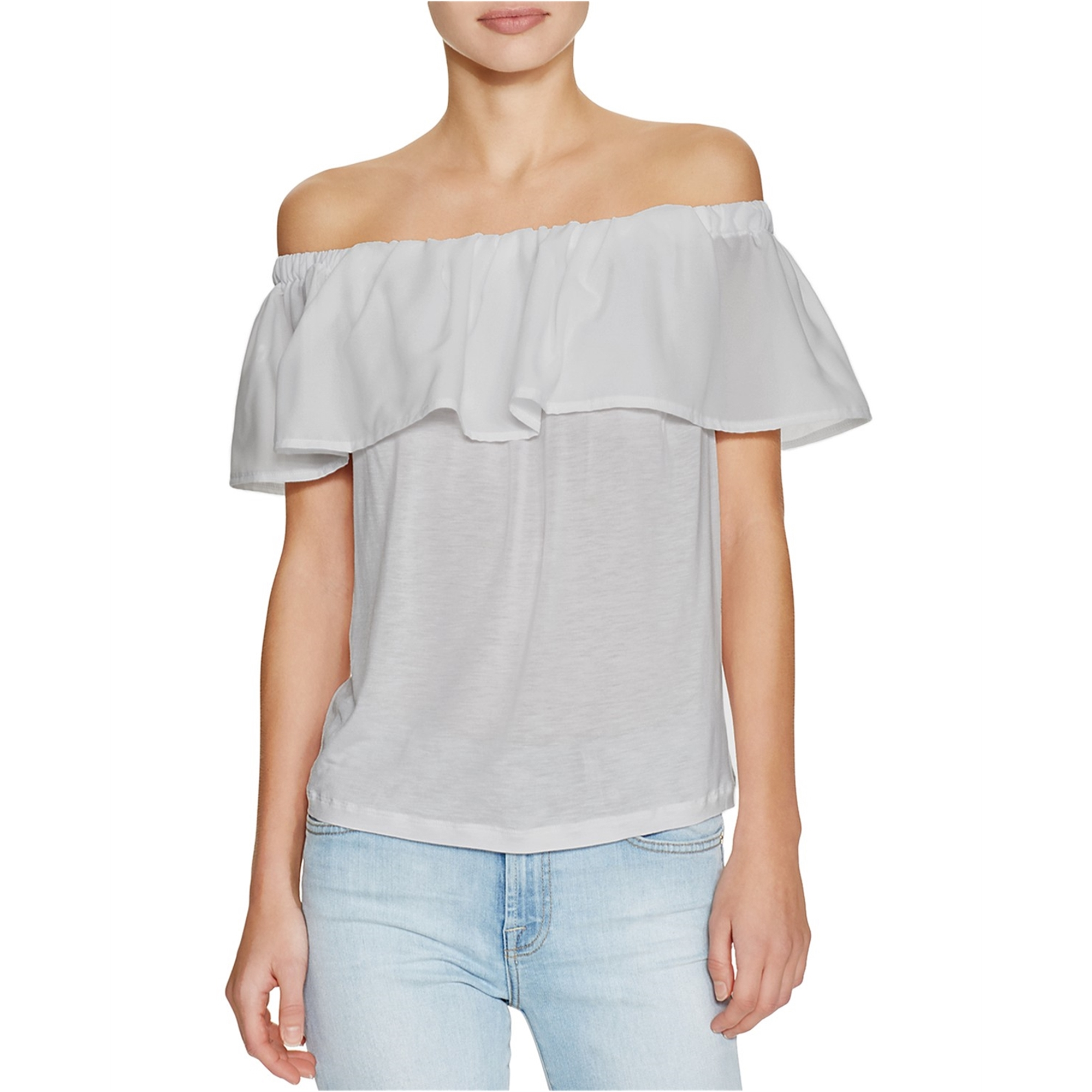 French Connection Womens Polly Plains Knit Blouse