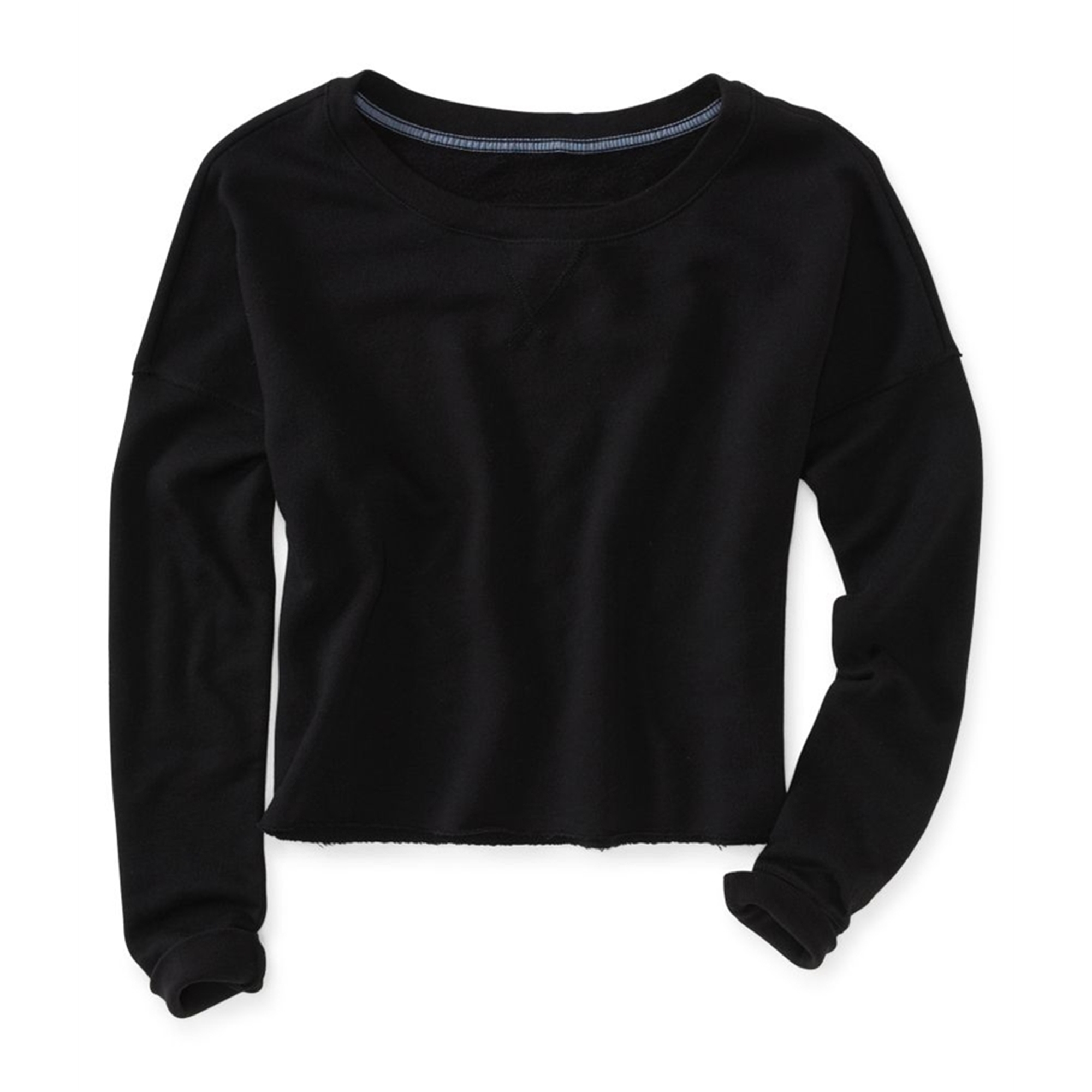 Aeropostale Womens Wide Cropped Crew Knit Sweater
