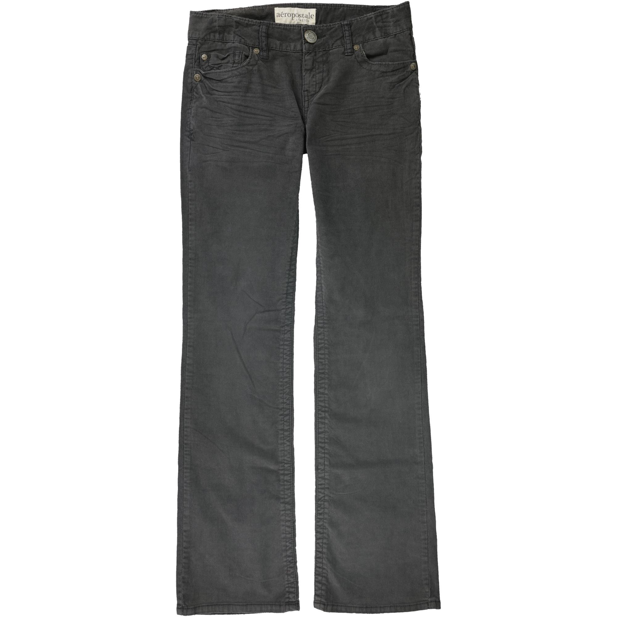 Aeropostale Womens Solid Casual Corduroy Pants