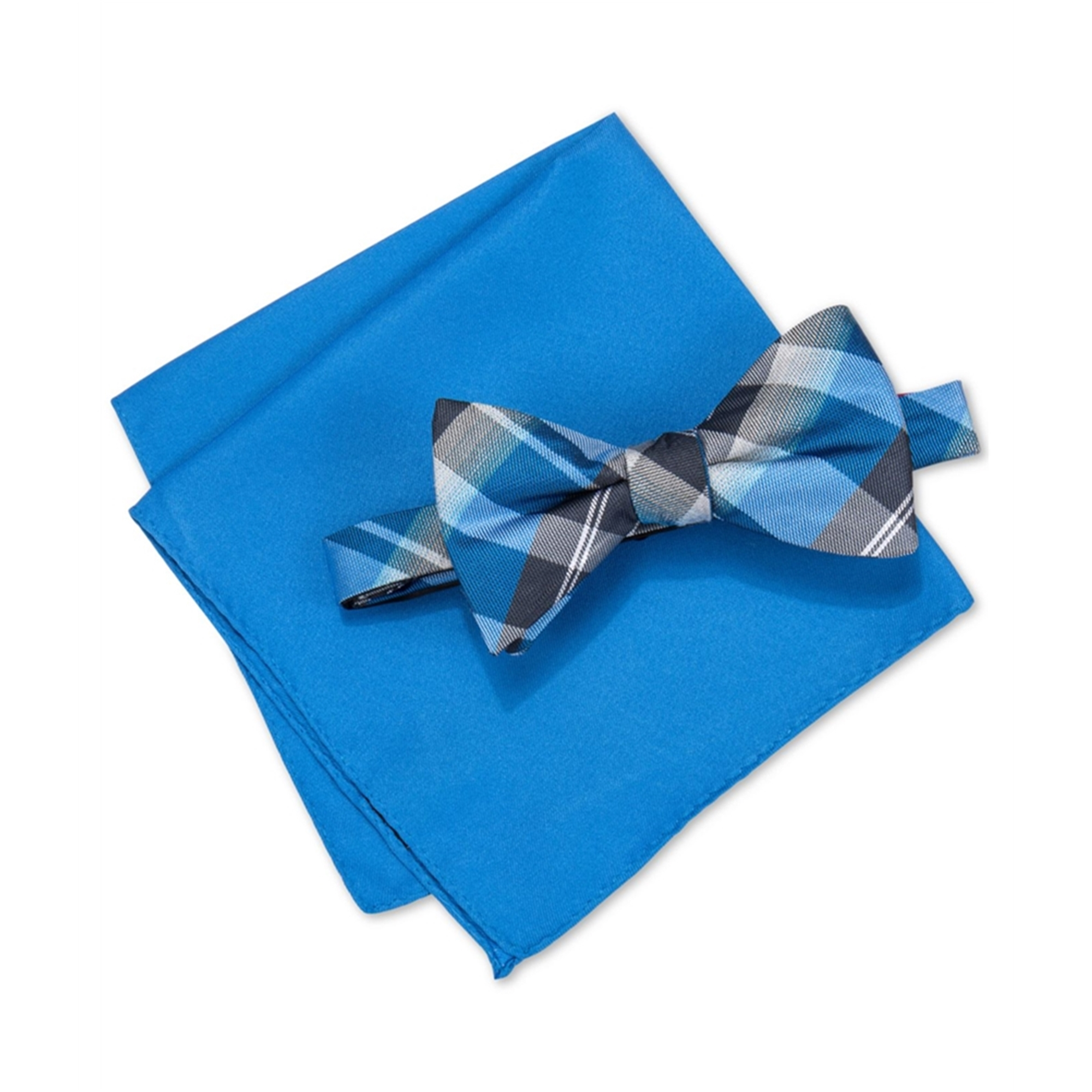 Alfani Mens Walsh Neat Plaid Neck Tie Set