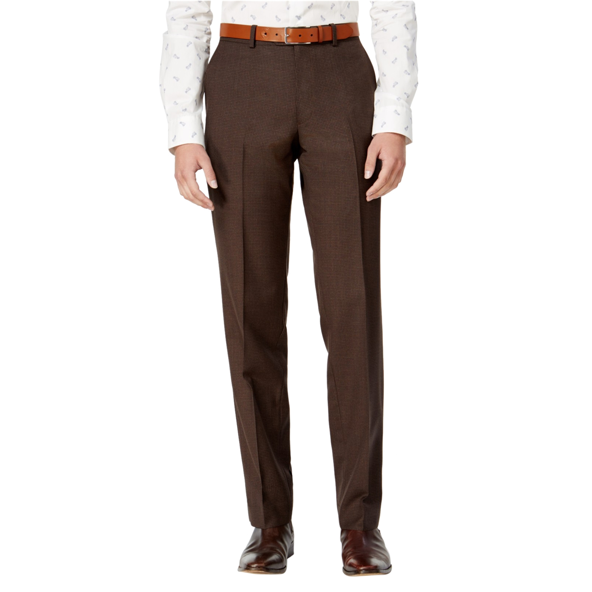 Bar Iii Mens Mini Check Dress Pants Slacks