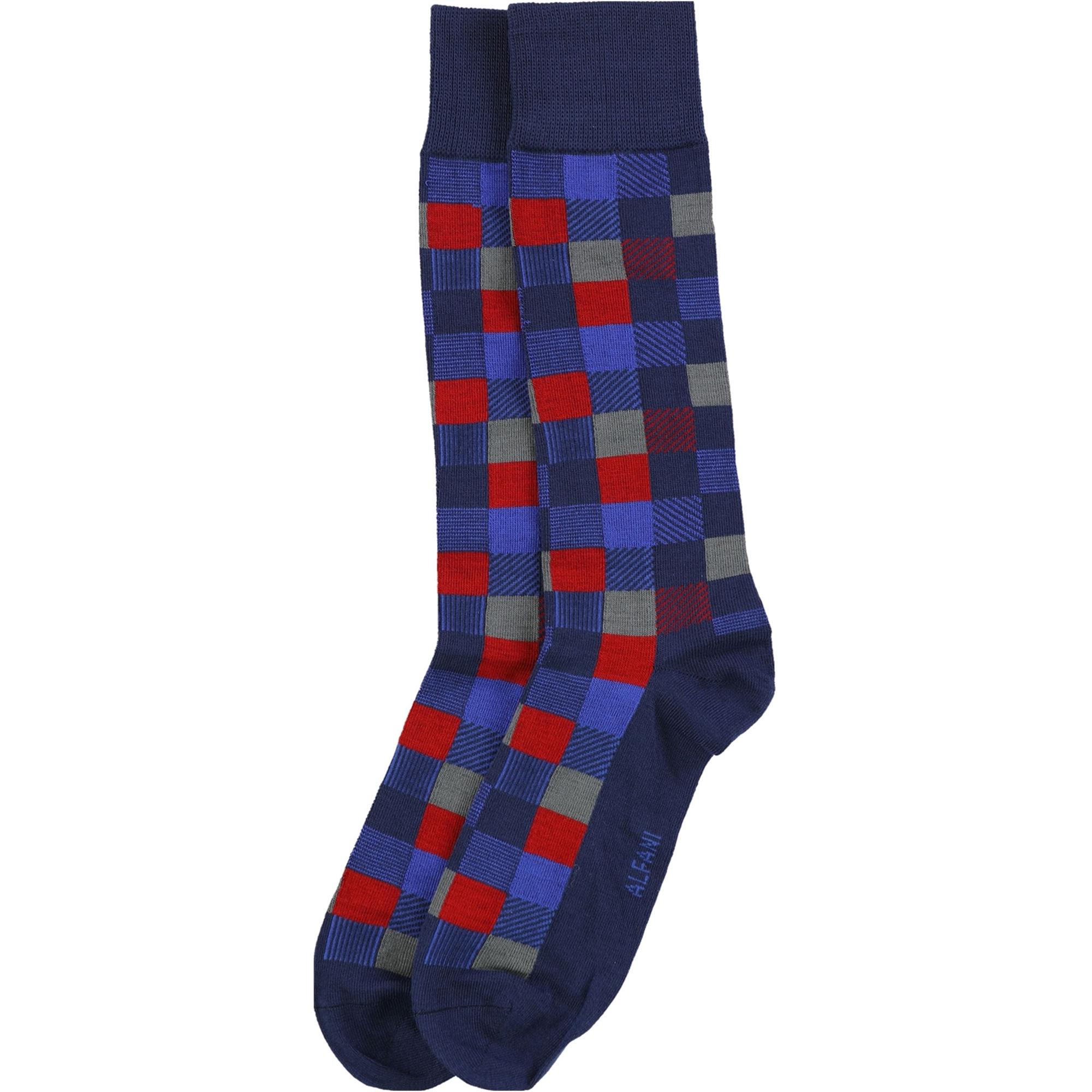 Alfani Mens Box Print Dress Socks