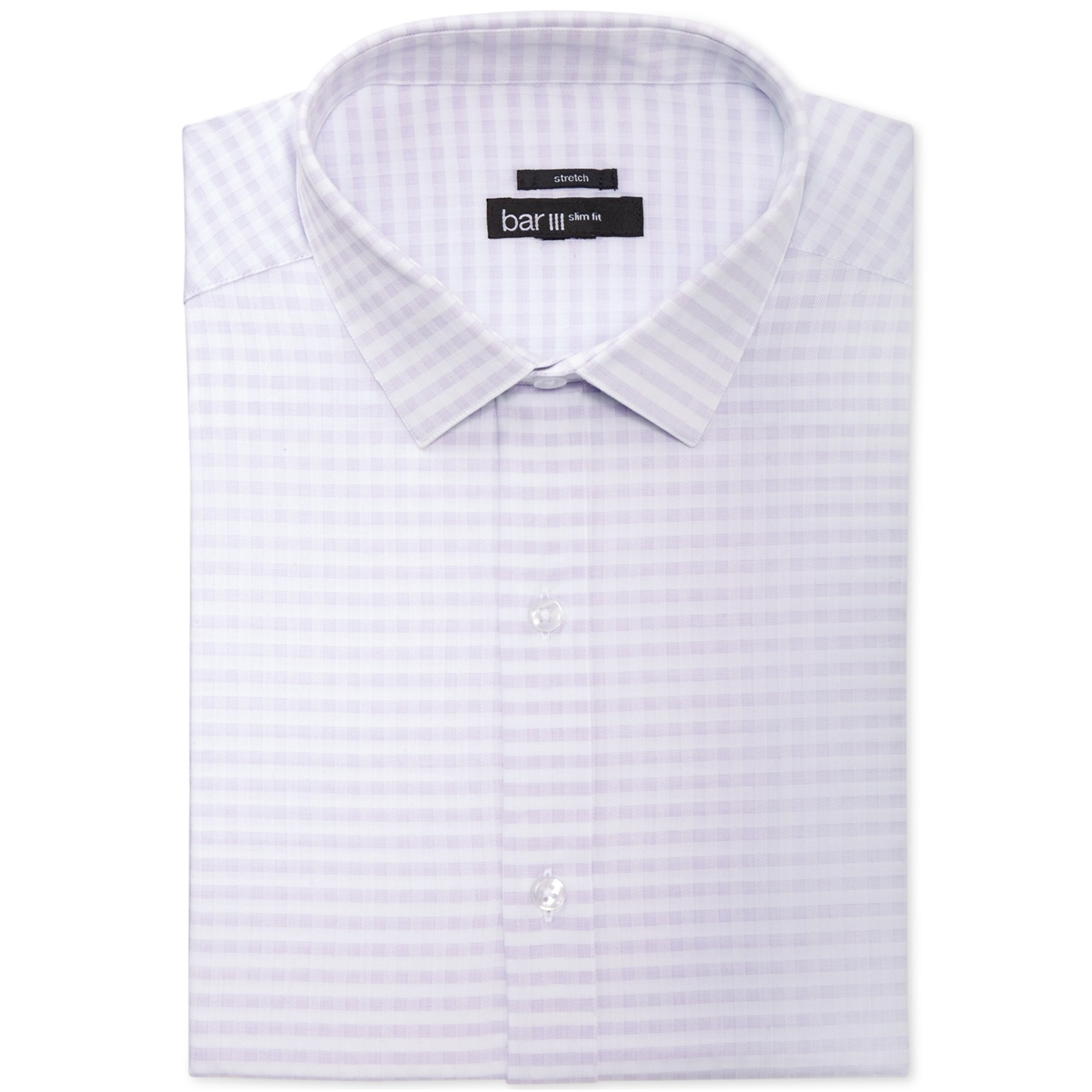Bar Iii Mens Twill Gingham Button Up Dress Shirt