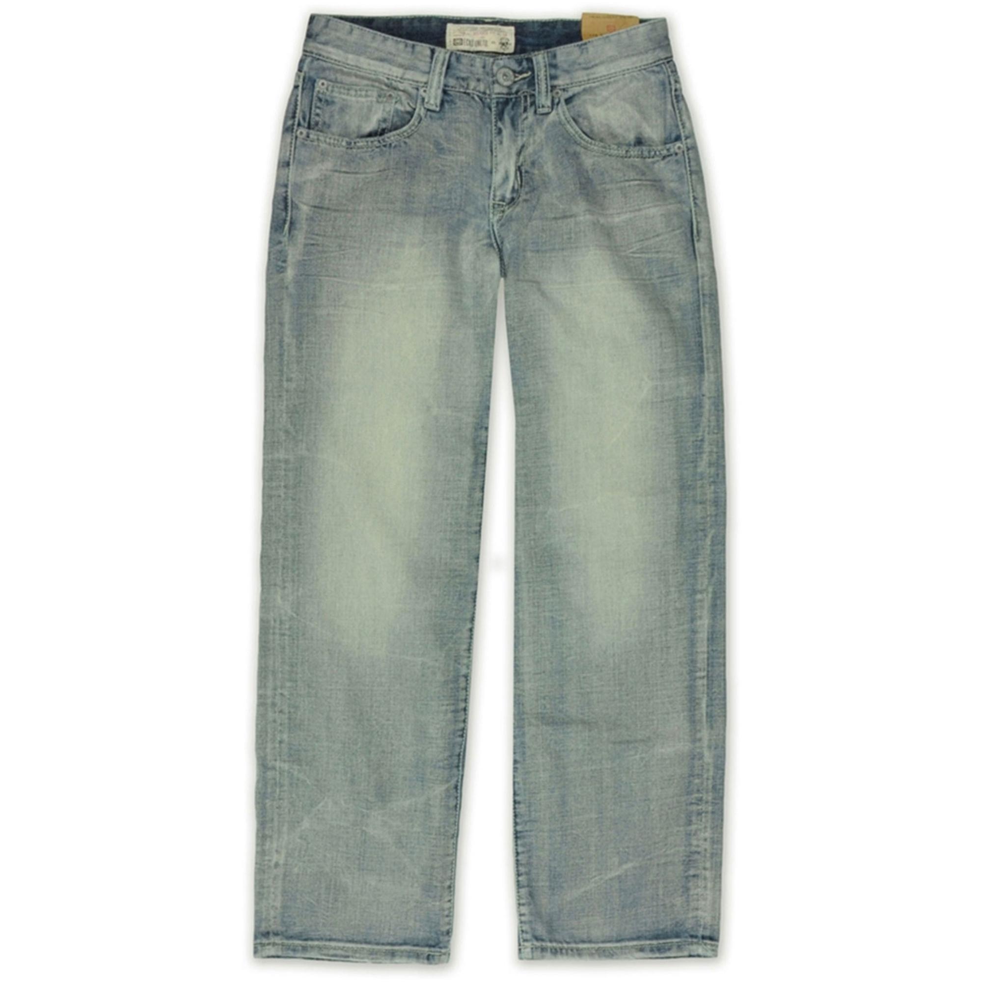 Ecko Unltd. Mens Core Crystal Wash Denim Relaxed Jeans
