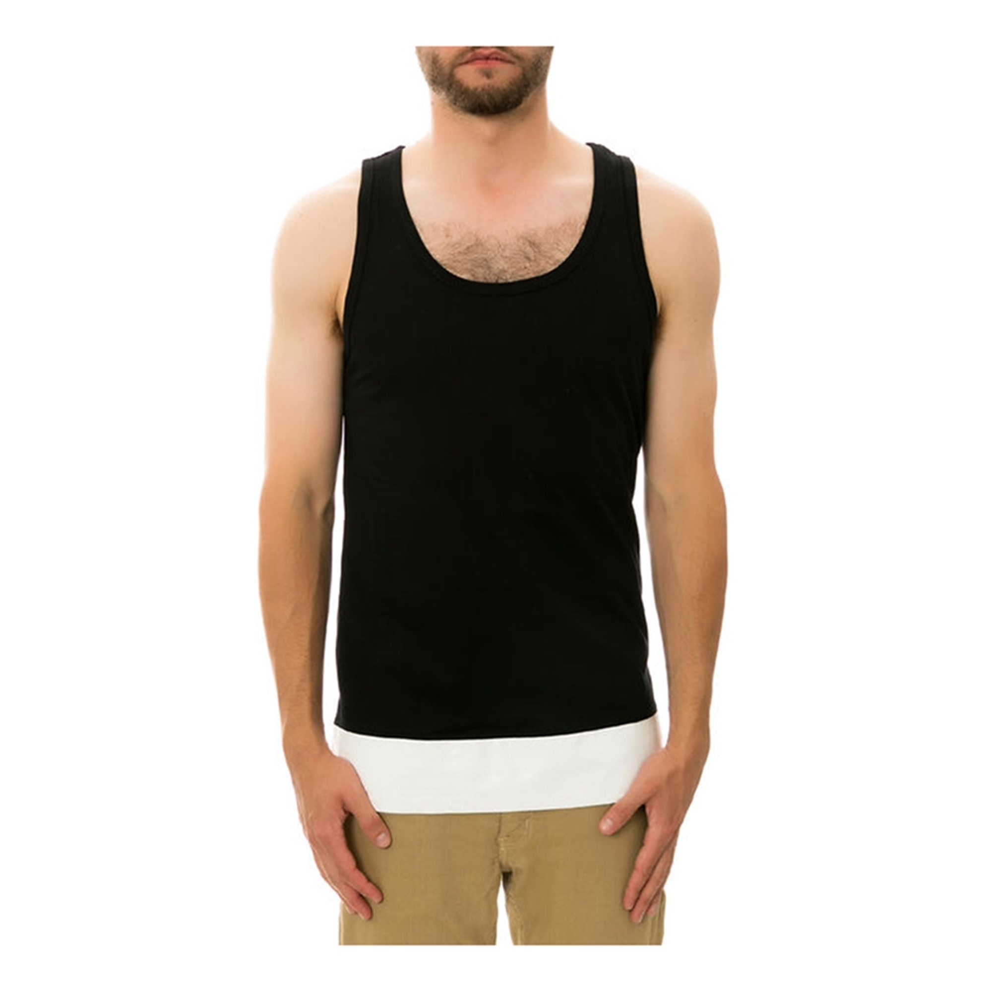 Dope Mens The Leather Paneled Tank Top