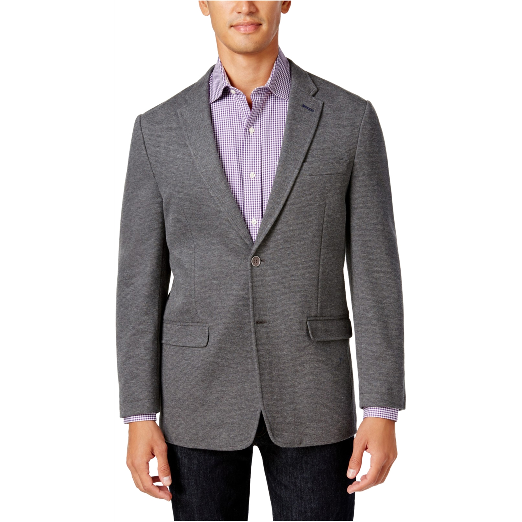 Tommy Hilfiger Mens Knit Two Button Blazer Jacket