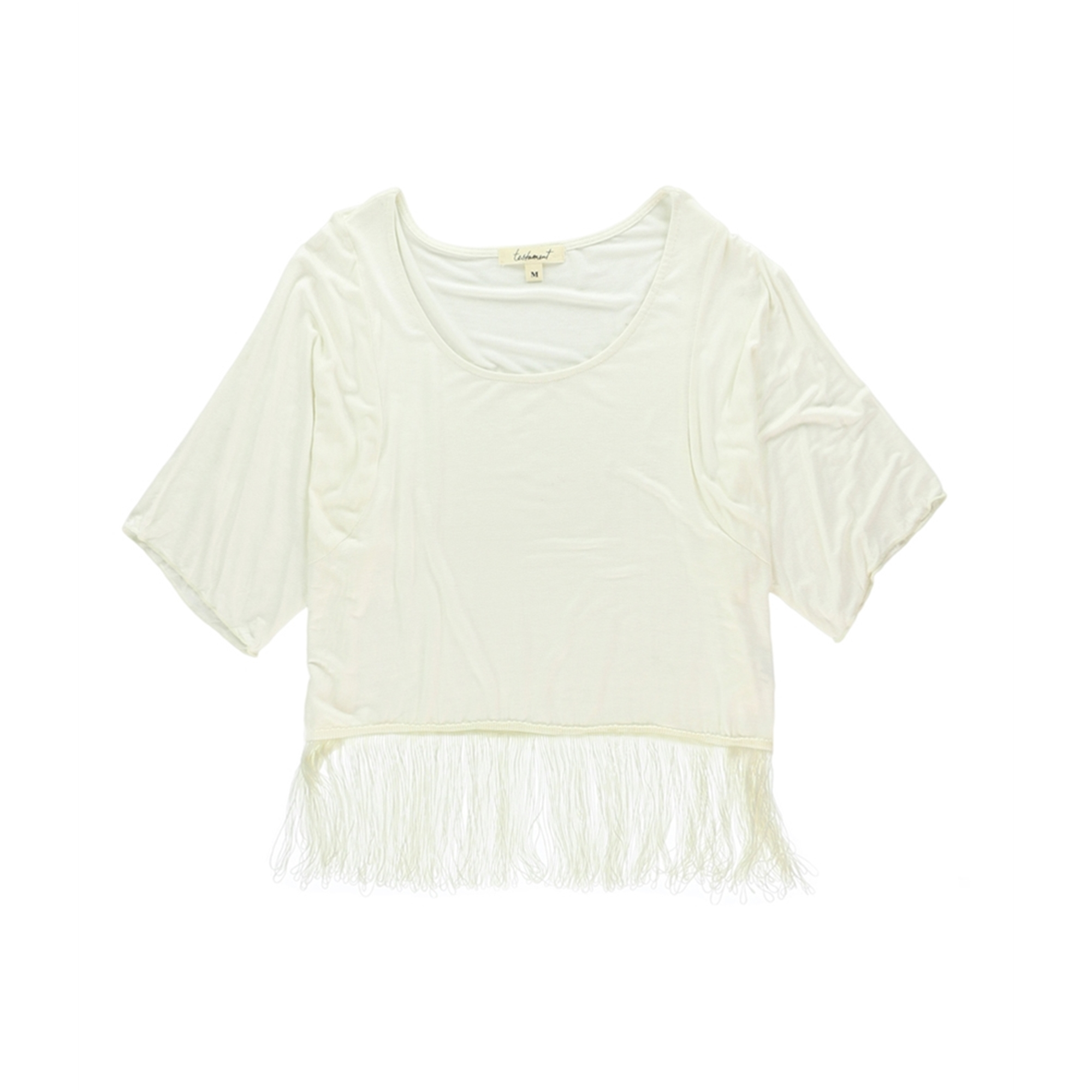 testament Womens Fringed Pullover Blouse
