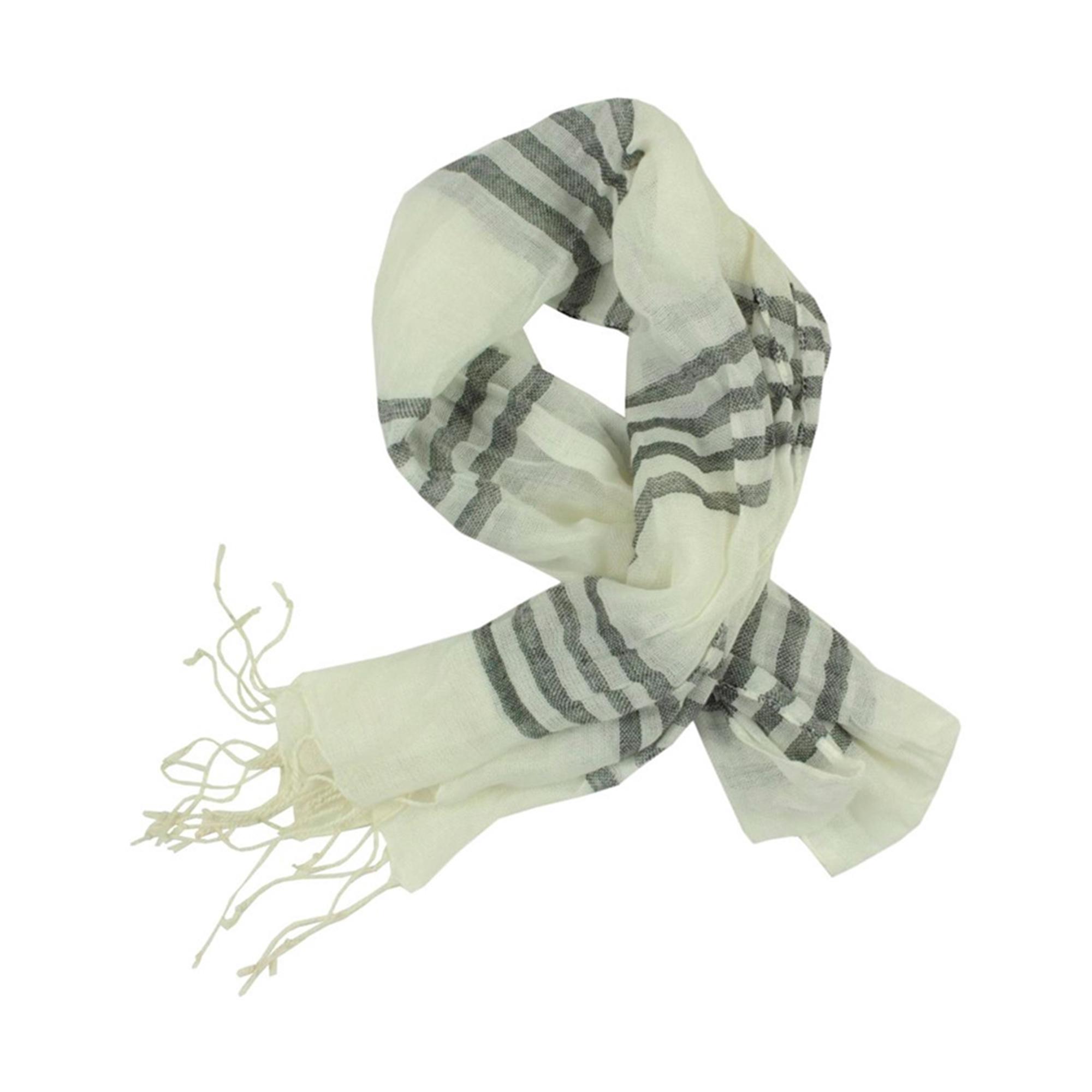 Tallia Womens Talia Sheer Knit Stripe Wrap Scarf