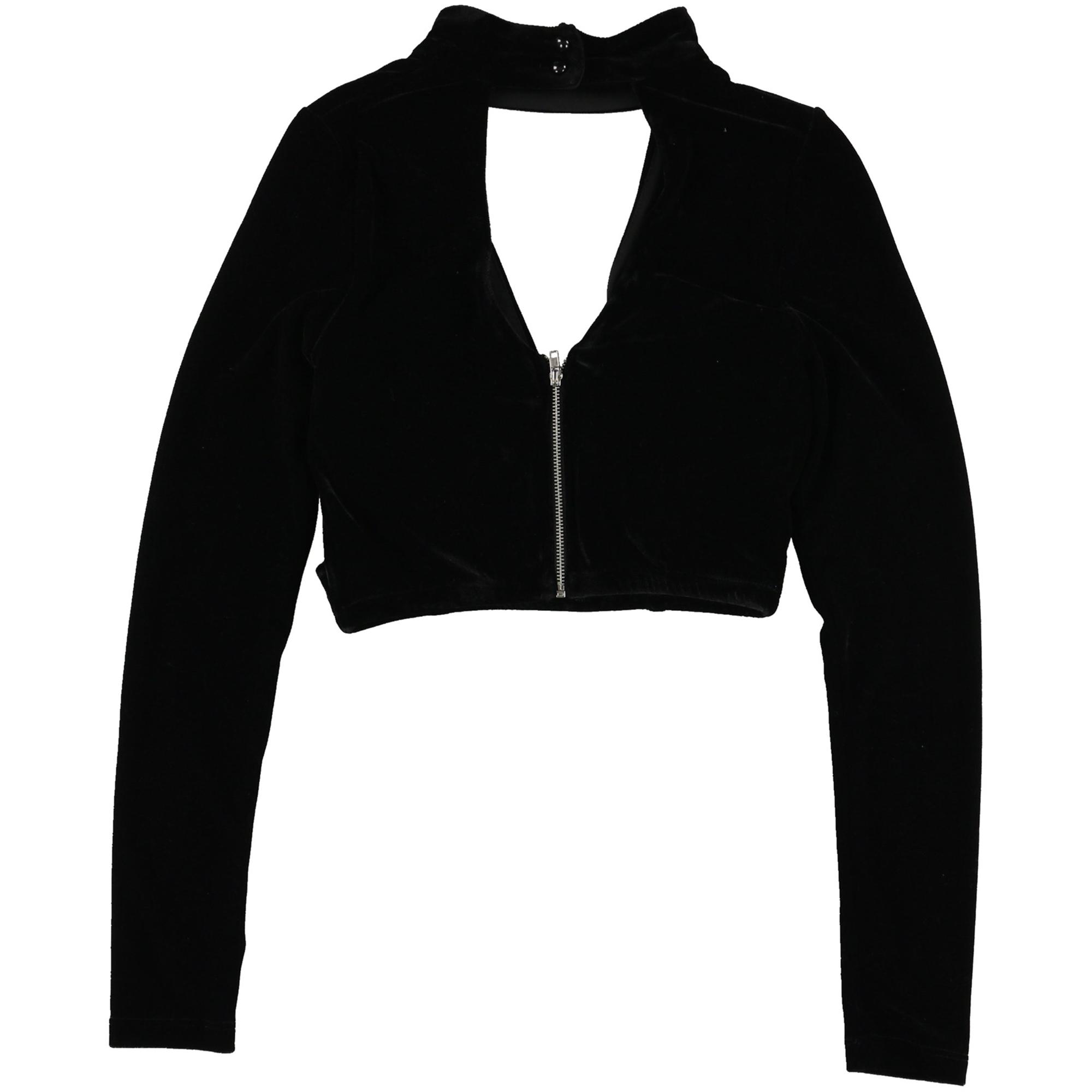 Trixxi Womens Velour Knit Blouse