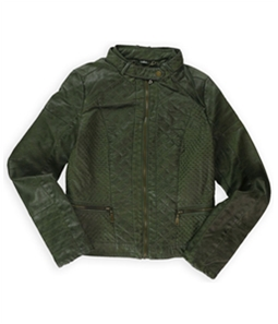 J2 Womens Quilted Dyed Bomber Jacket