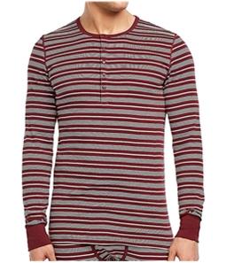 2(X)IST Mens Striped Henley Pajama Sleep T-shirt