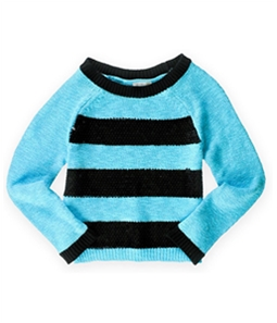 Justice Girls Striped Shimmer Knit Sweater