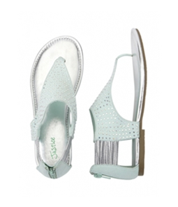 Justice Girls Jeweled T-Strap Sandals