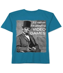 Jem Boys Abe Lincoln Video Game Graphic T-Shirt
