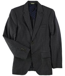 Tasso Elba Mens Checked Two Button Blazer Jacket