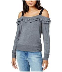 maison Jules Womens Ruffled Sweatshirt