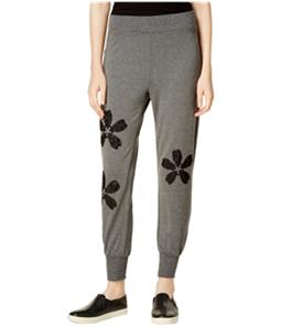 maison Jules Womens Lace-Applique Casual Jogger Pants