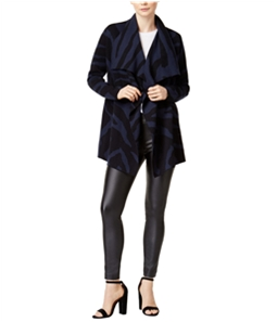 bar III Womens Draped Printed Cardigan Blazer Jacket
