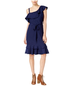 maison Jules Womens One Shoulder Cocktail A-line Dress