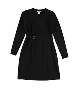 bar III Womens Belt Shift Dress