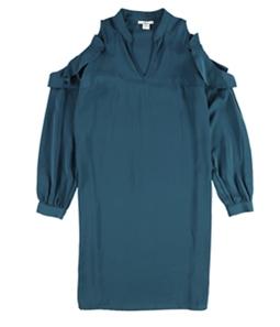bar III Womens Cold Shoulder Shirt Dress
