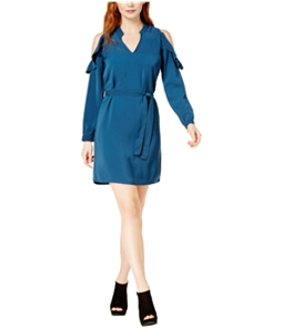 bar III Womens Cold-Shoulder A-line Dress