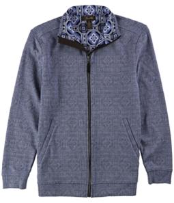 Tasso Elba Mens Graphic Knit Jacket