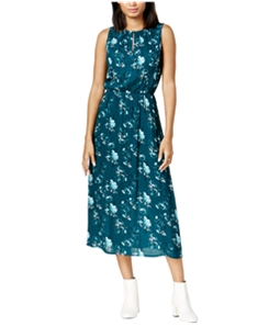 maison Jules Womens Printed Fit Flare Maxi Fit & Flare Dress