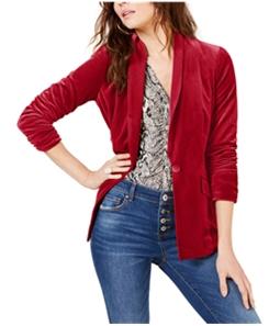 I-N-C Womens Velvet One Button Blazer Jacket