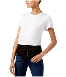 I-N-C Womens Colorblocked Corset Basic T-Shirt