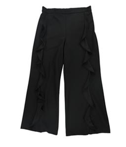 bar III Womens Ruffled Casual Wide Leg Pants